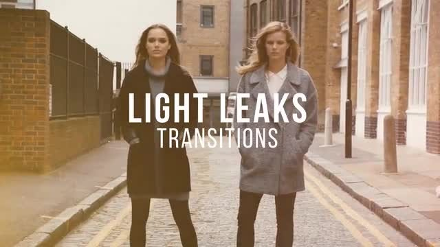 Light Leaks Transitions: Stock Motion Graphics