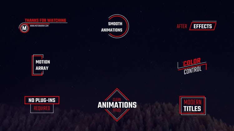 Modern Titles: After Effects Templates