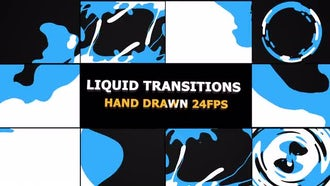 Liquid Transitions: Motion Graphics