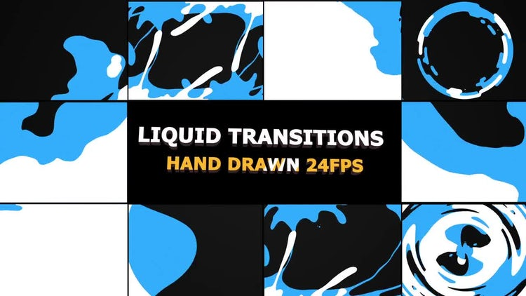 Liquid Transitions: Stock Motion Graphics