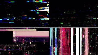 TV Noise Distortion Pack: Motion Graphics