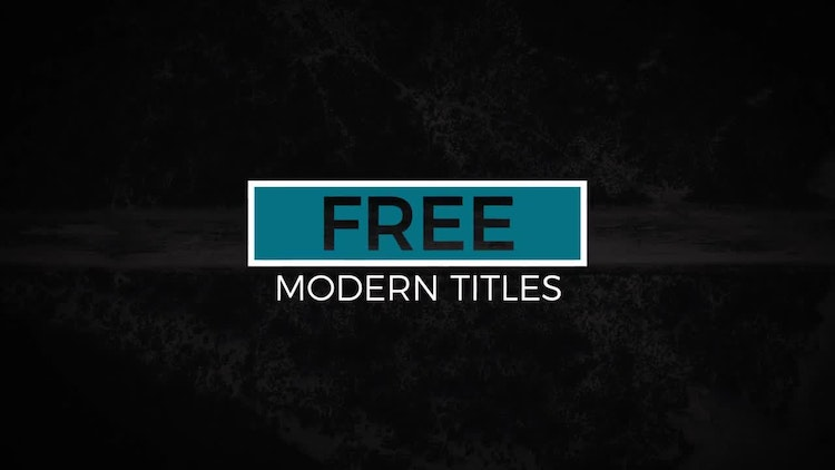 12 Free Modern Titles - After Effects Templates | Motion Array