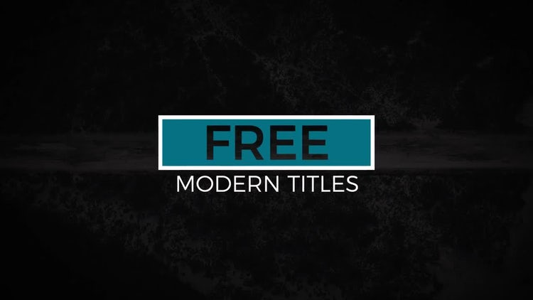 12 Free Modern Titles: After Effects Templates