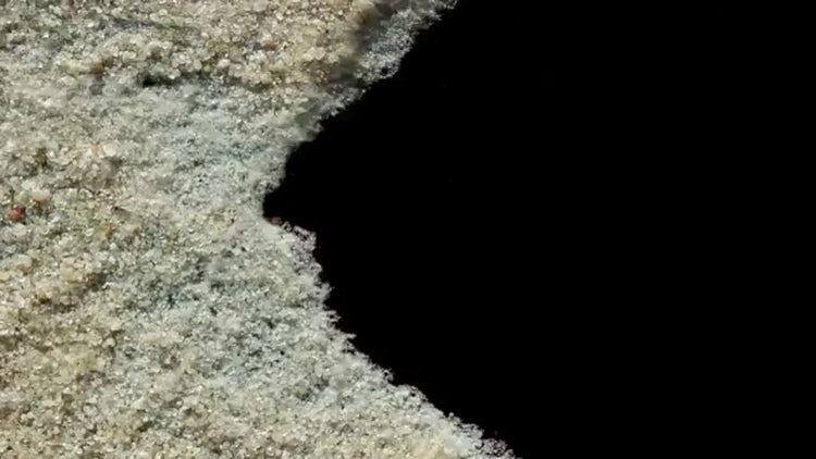 Moving Sand With Alpha Channel: Motion Graphics