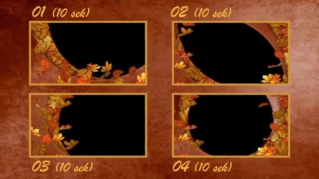 Autumn Falling Leaves Frames: Stock Motion Graphics