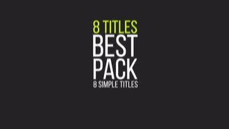 Titles Pack: Motion Graphics Templates