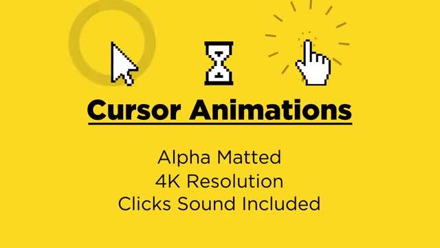 Cursor Animations: Stock Motion Graphics
