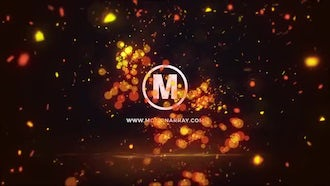 Glowing Particles Logo Reveal: After Effects Templates