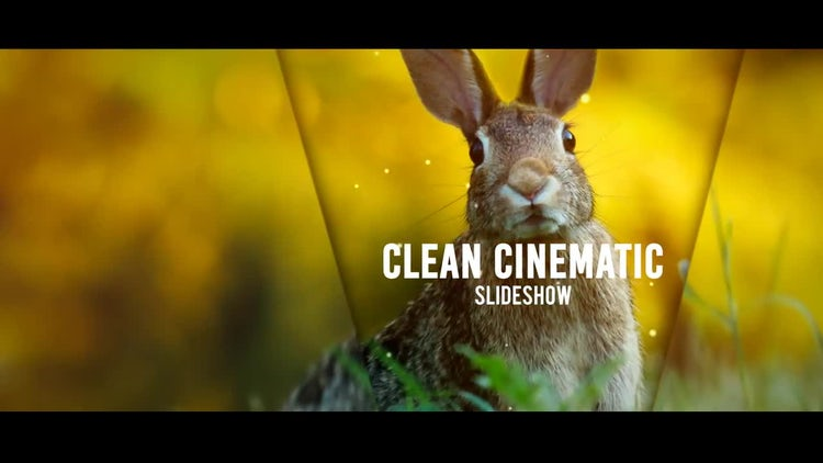 Clean Cinematic Slideshow: After Effects Templates