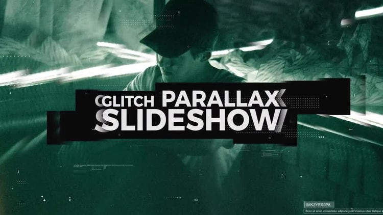 Glitch Parallax Slideshow: Premiere Pro Templates