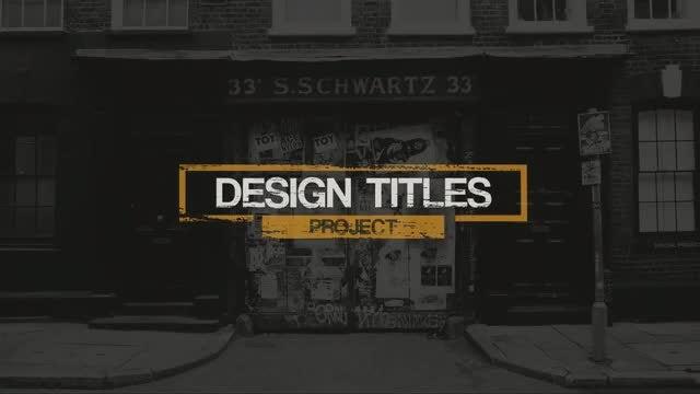 Grunge Titles 2 : Premiere Pro Templates