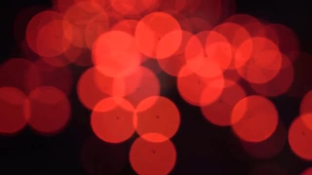 Red Bokeh Lights: Stock Video