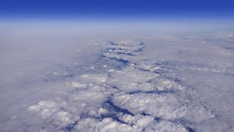 Above Puffy Clouds: Stock Video