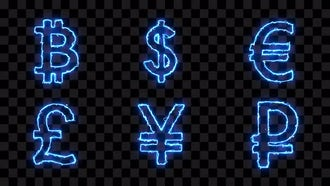 Coins Electric Icons: Motion Graphics
