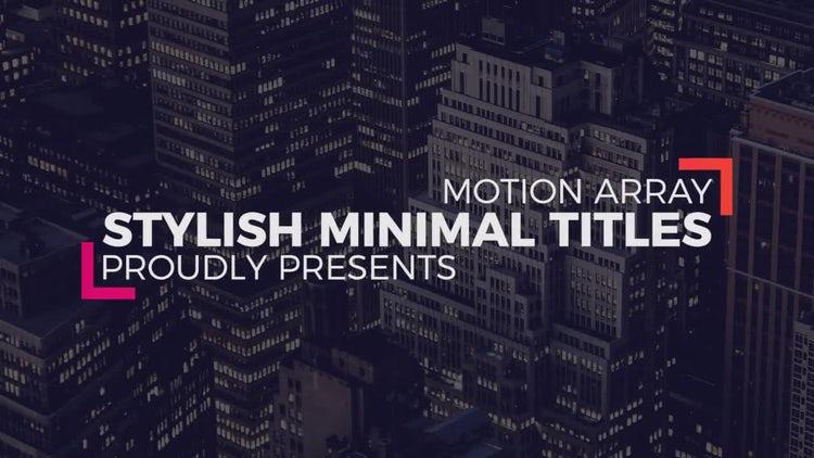 Stylish Minimal Titles: Premiere Pro Templates