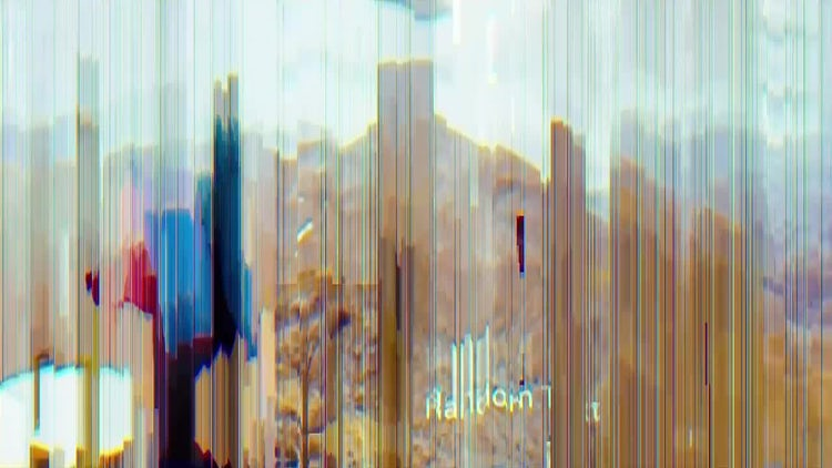 Glitch Parallax Slides: After Effects Templates