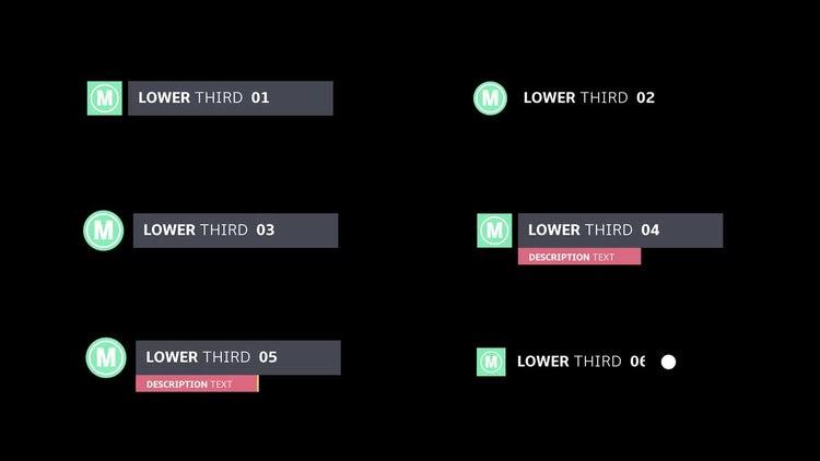 Logo Lower Thirds Pack 01: Premiere Pro Templates
