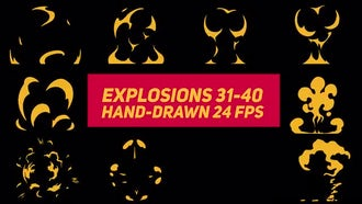 Liquid Elements Explosions 31-40: After Effects Templates