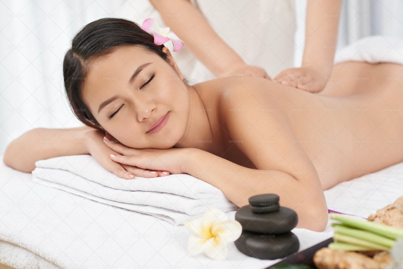 Massage Session: Stock Photos