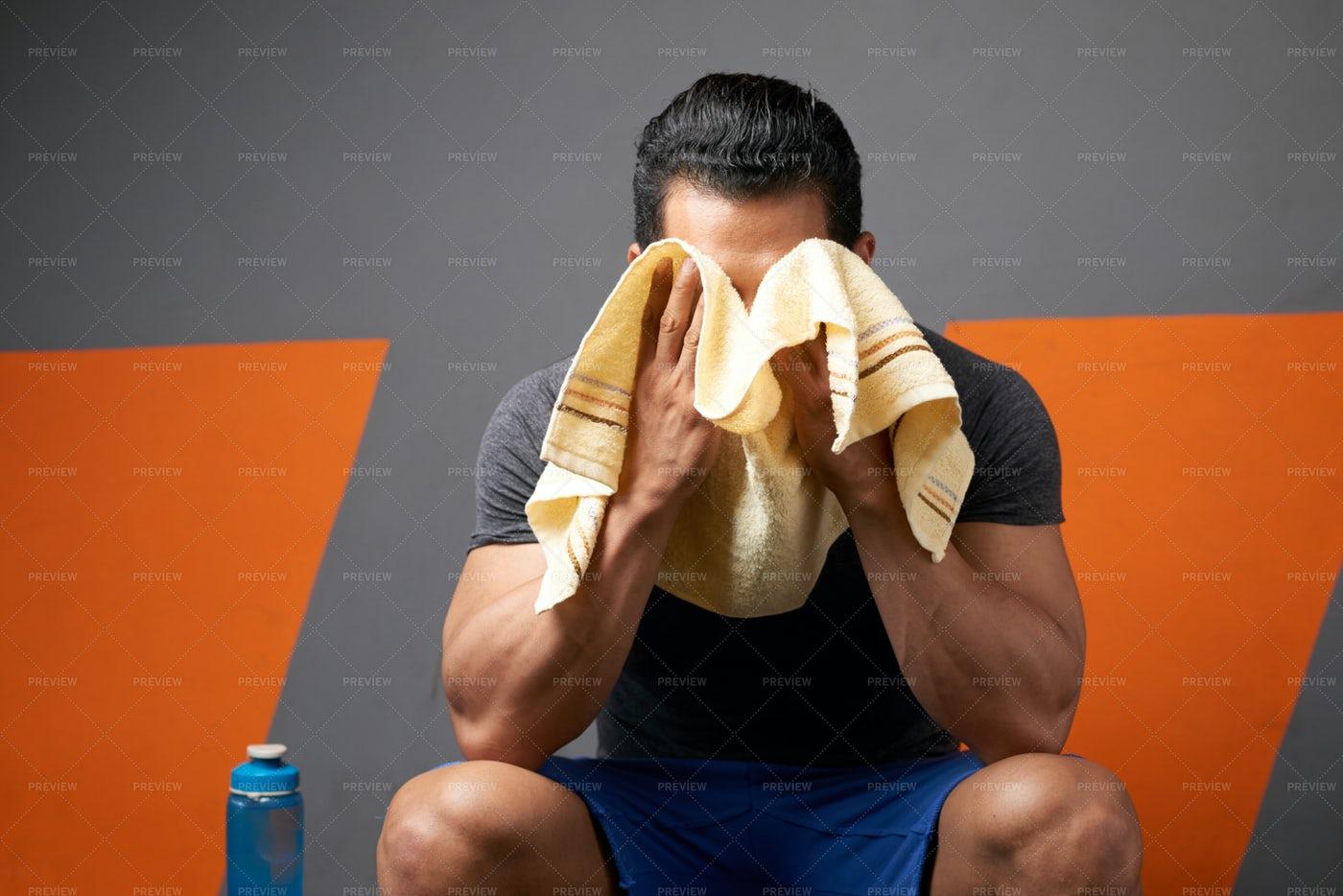 Wiping Away Sweat: Stock Photos