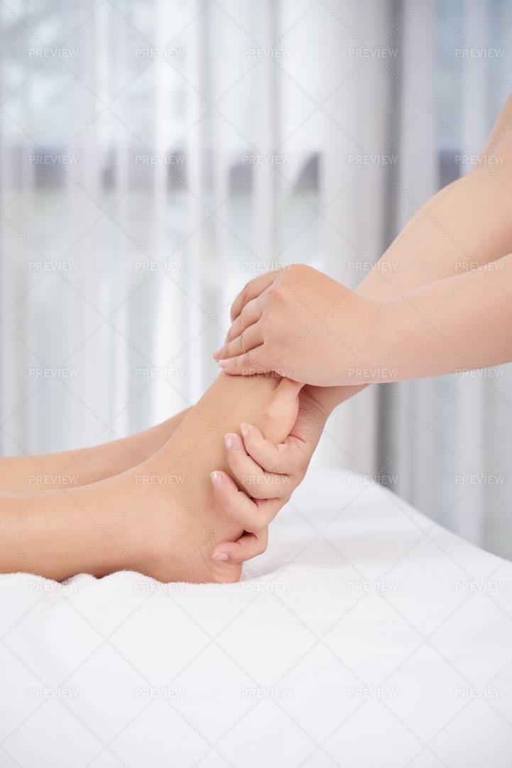 Relaxing Feet Massage: Stock Photos
