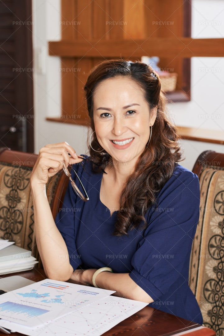 Business Woman Working From Home: Stock Photos