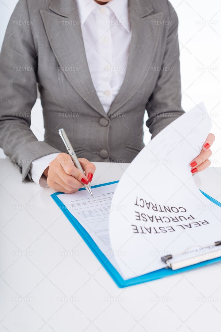 Signing Real Estate Purchase...: Stock Photos