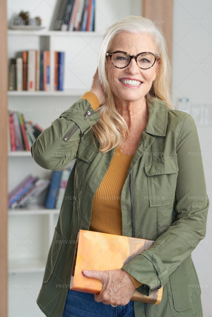 Happy Senior Woman: Stock Photos