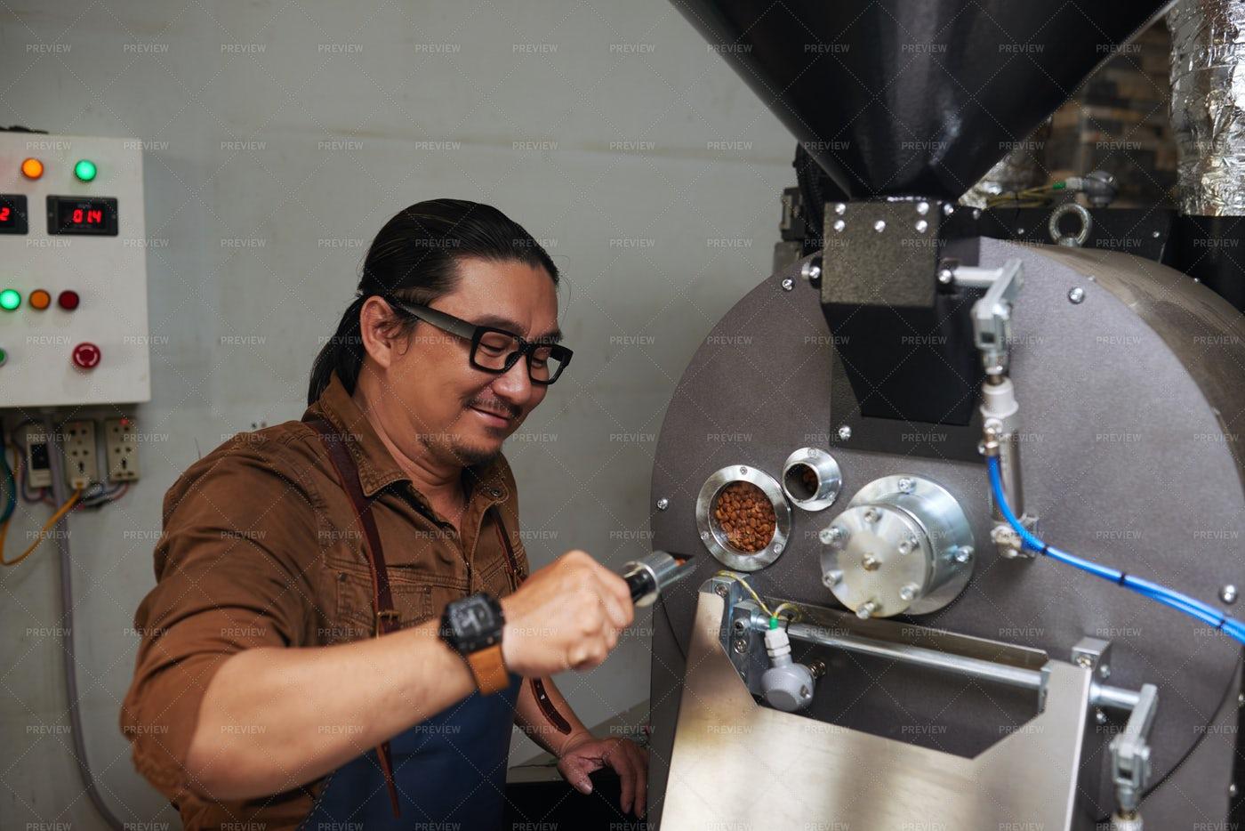 Roasting Coffee Beans: Stock Photos