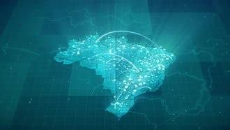 Globalization Brazil Map: Motion Graphics