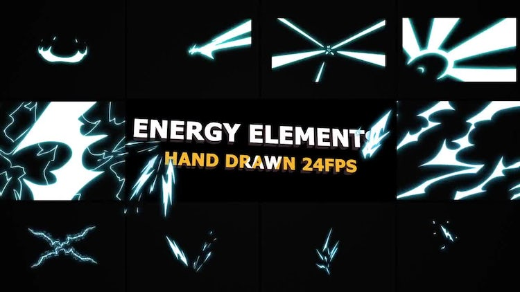 Flash FX ENERGY Elements 24 fps: Motion Graphics