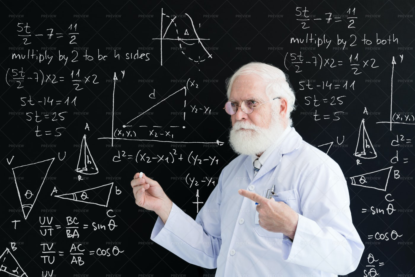 Professor Of Chemistry Lecturing To...: Stock Photos