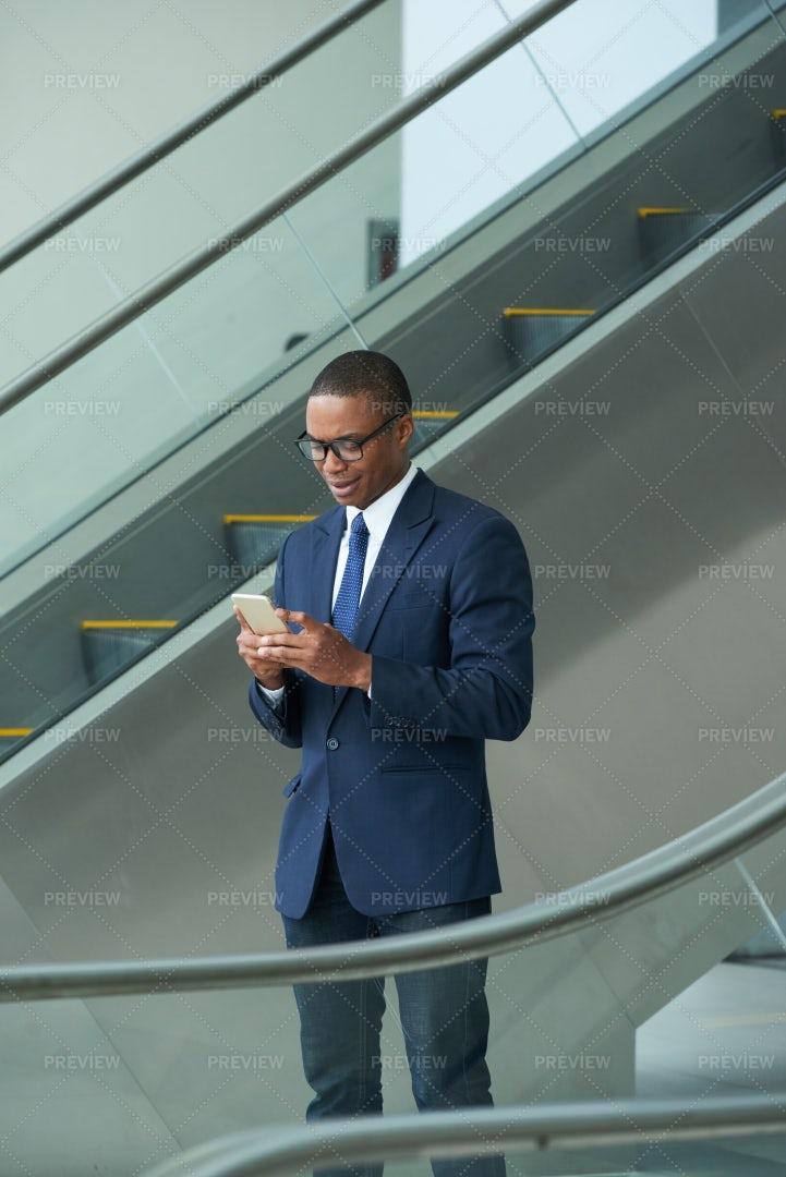 Checking Smartphone: Stock Photos