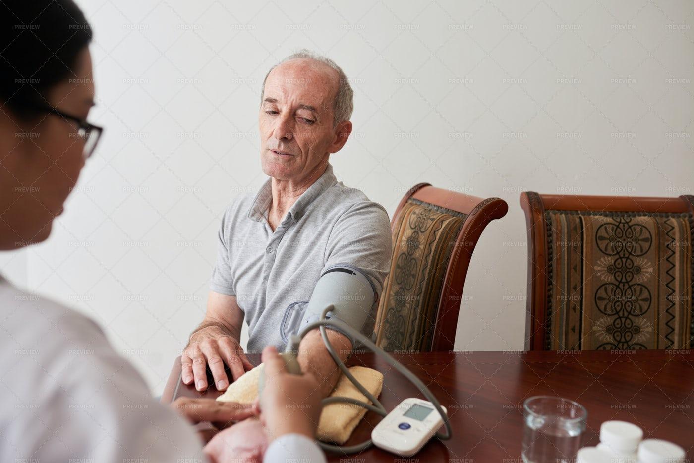 Measuring Blood Pressure: Stock Photos