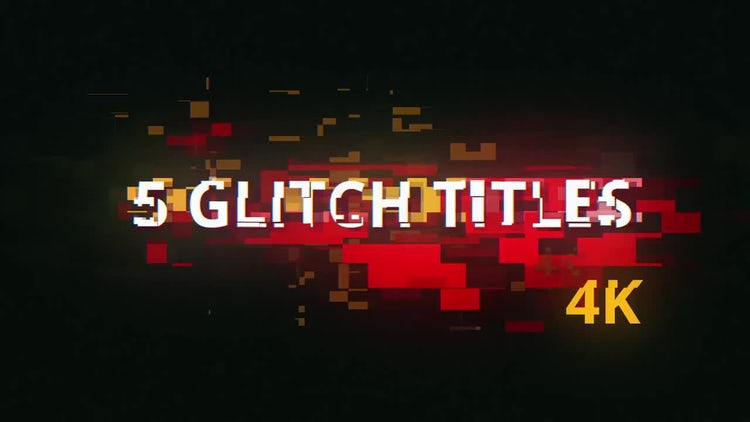 5 Glitch Cyberpunk Titles: After Effects Templates