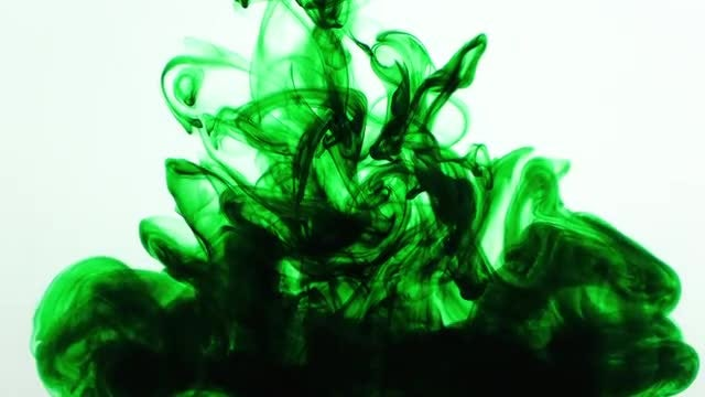 Green Ink Splash: Stock Video