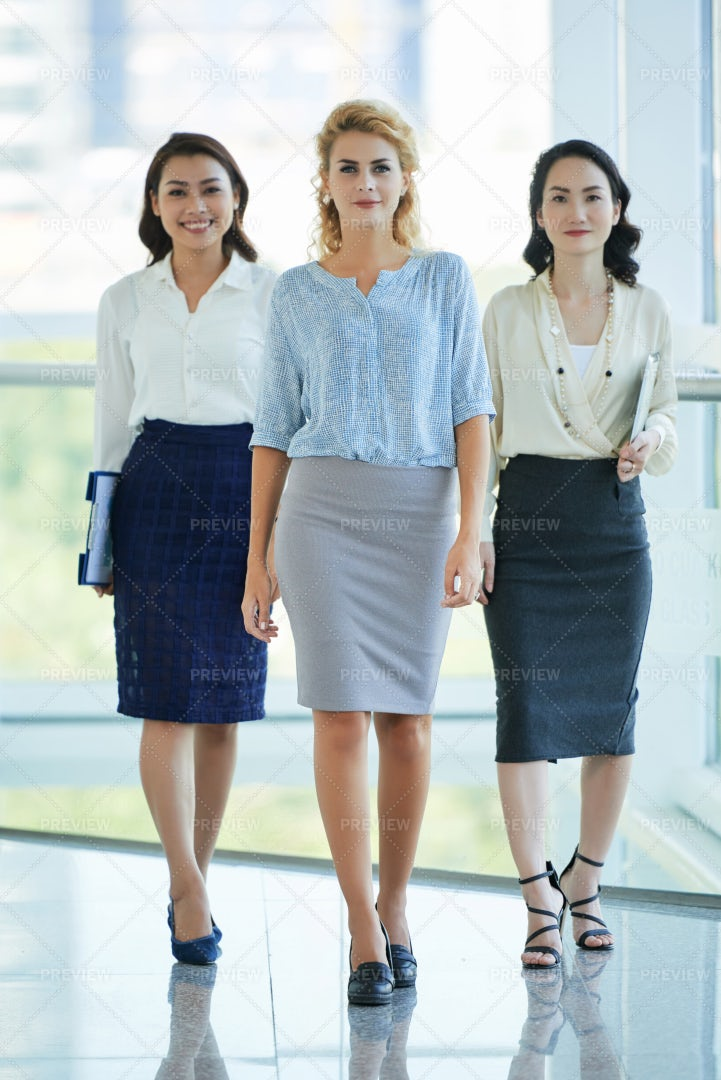 Confident Female Colleagues: Stock Photos