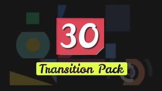 30 Shapes Transition Presets Pack : After Effects Templates