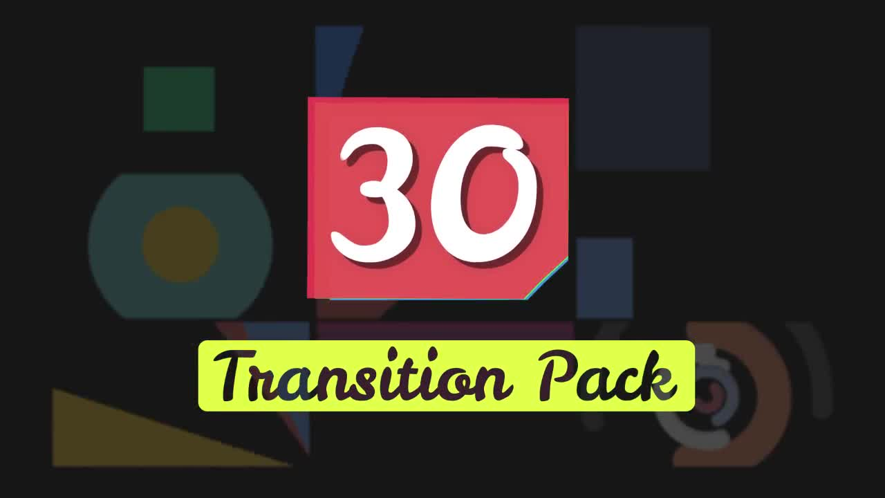 30 Shapes Transition Presets Pack - After Effects Presets