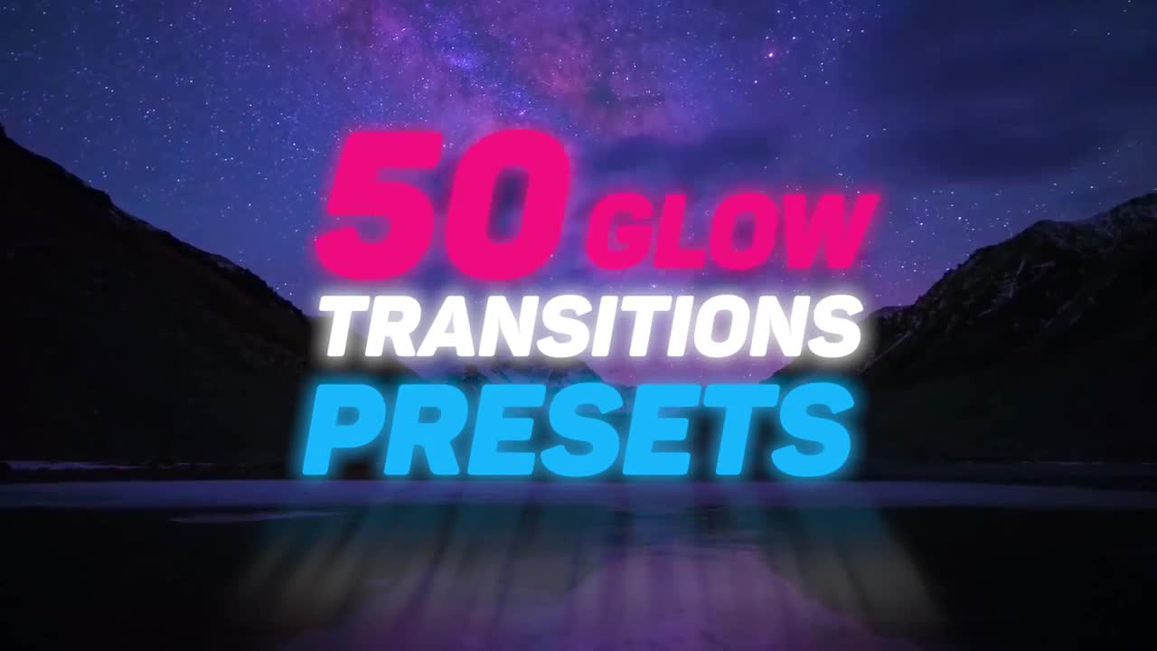 50 Glow Transition Presets - Premiere Pro Presets | Motion Array