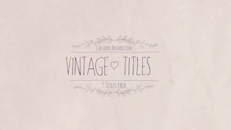 Wedding Vintage Titles: Motion Graphics Templates