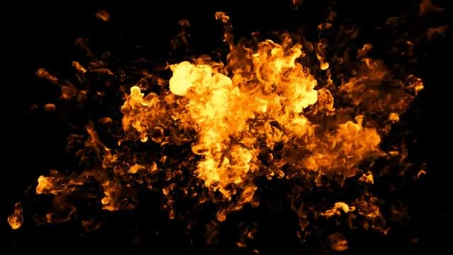 Explosion and Fire with Matte: Stock Video