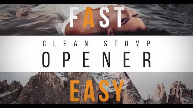 Clean Stomp Opener: Premiere Pro Templates