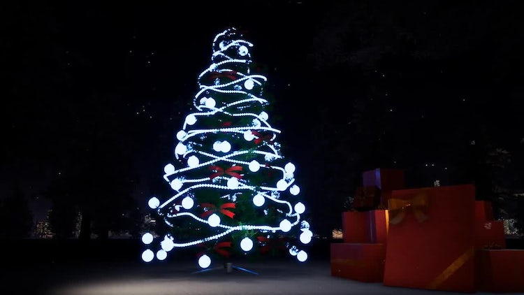 Christmas And Light Tree: Motion Graphics