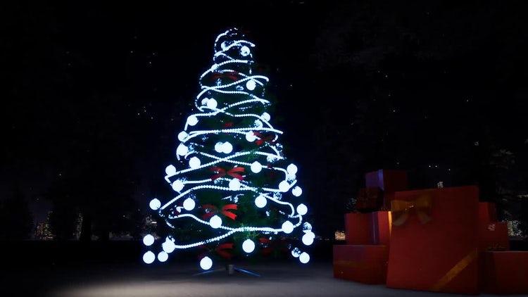 Christmas And Light Tree: Stock Motion Graphics