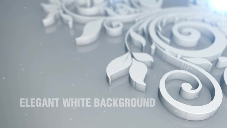 Elegant White Background: Motion Graphics