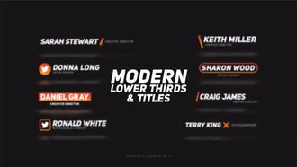 Modern Lower Thirds & Titles: After Effects Templates