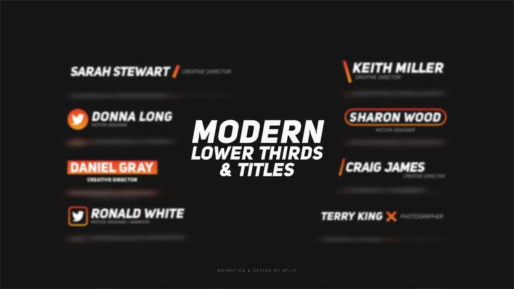 Modern lower thirds titles after effects templates motion array for After effects titles templates