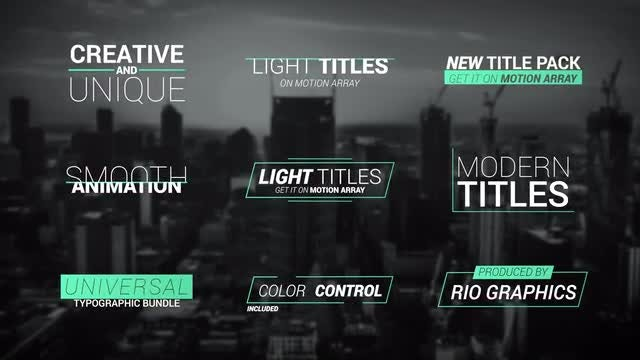 18 Light Titles v2: Premiere Pro Templates