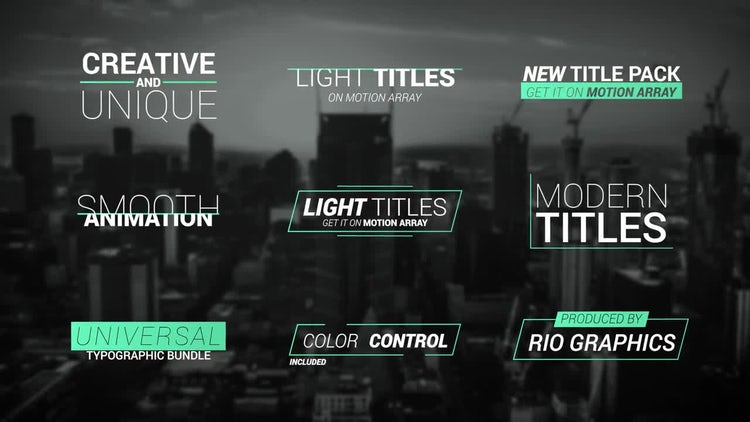 18 Light Titles v2: Premiere Pro Templates